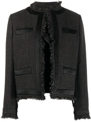 Sacai Cropped Long Sleeve Jacket
