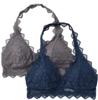 Felina Halter Lace Bralette - Pack of 2