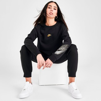 Nike Women's Sportswear Shine Fleece Crewneck Sweatshirt