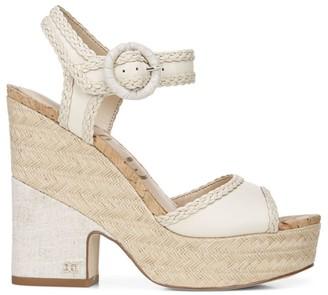 Sam Edelman Lillie Woven Leather Platform Sandals