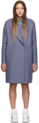 Harris Wharf London Blue Oversized Fitted Coat
