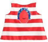 I Pinco Pallino Embellished Striped Shantung Top