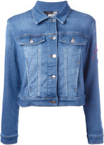Love Moschino heart patch denim jacket - women - Cotton/Polyester/Spandex/Elastane - 40