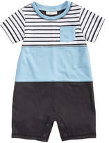 First Impressions Colorblocked Cotton Romper, Baby Boys, Created for Macy's