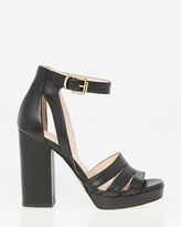 Le Château Italian-Made Leather Platform Sandal
