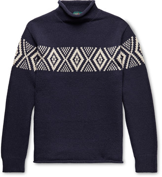 J.Crew Intarsia Wool Rollneck Sweater