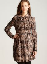 2 B Rych Laminated lace trench coat