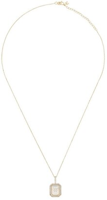 Mateo 14K yellow gold W-initial diamond necklace