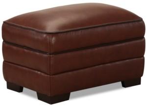 Furniture Myars Leather Ottoman