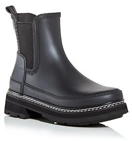 Hunter Women's Waterproof Block Heel Chelsea Boots