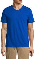 ST. JOHN'S BAY St. John's Bay Short Sleeve Slim Fit V Neck T-Shirt