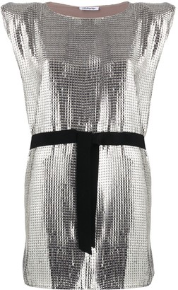 Parlor Belted Sequin Mini Dress