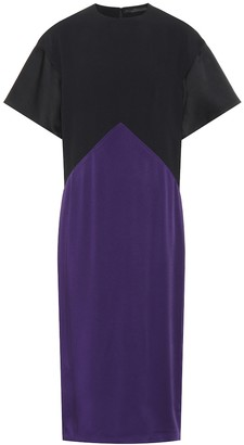 Haider Ackermann Satin and crepe dress
