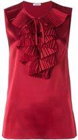 P.A.R.O.S.H. sleeveless ruffle blouse