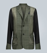 Sacai Contrast paneled blazer