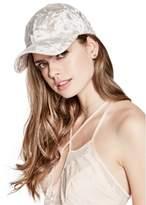 GUESS Women's Olivia Crushed Velvet Baseball Hat