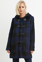 Forever 21 FOREVER 21+ Toggle-Front Plaid Coat