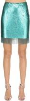 VIVETTA Sequined Mini Skirt W/ Fringe