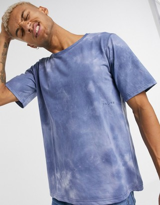 NATIVE YOUTH tie dye t-shirt in navy