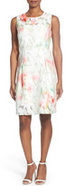 Elie Tahari &Dorinda& Floral Burnout Sheath Dress