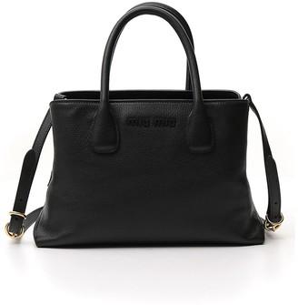 Miu Miu Logo Double Handle Tote Bag