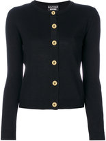 Moschino grosgrain trim cardigan