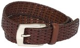 Stacy Adams Men's 32mm Hand Woven Genuine Leather Belt