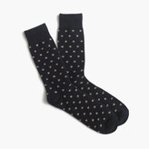J.Crew Italian cashmere small dot socks