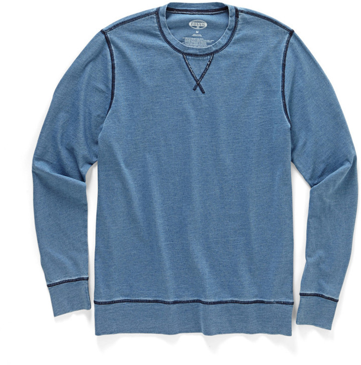 Fossil Redford Long Sleeve Indigo Tee