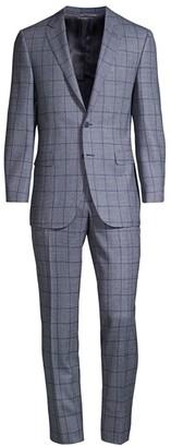 Canali Windowpane Wool Suit