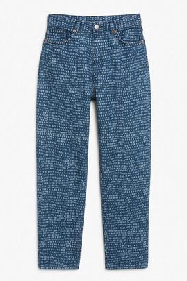 Monki Taiki printed jeans