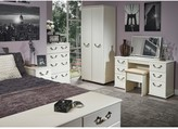 Swift Broadway Ready Assembled 4 Piece Package - 3 Door Mirrored Wardrobe, 5 Drawer Chest and 2 Bedside Chests