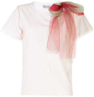 RED Valentino tulle-panelled T-shirt
