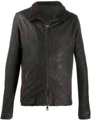 Giorgio Brato Slim Fit Leather Jacket