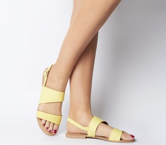 Office San Antonio Two Part Sandals Yellow Leather