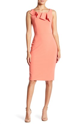 Calvin Klein Sleeveless Ruffle Sheath Dress