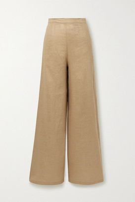 Miguelina Pamela Linen Wide-leg Pants - Light brown