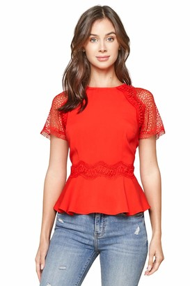 Sugar Lips Sugarlips Women's So Chic Lace Peplum Top
