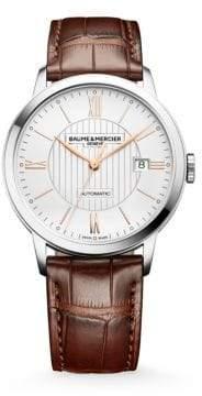 Baume & Mercier Classima 10263 Stainless Steel& Alligator Strap Watch