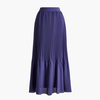J.Crew Elastic-waist pleated midi skirt