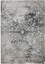 Panache Rizzy Home Transitional Central Medallion Scroll Work Distressed Geometric Rug