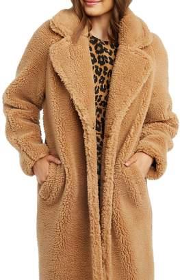 Bardot Long Faux Fur Coat