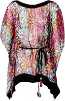 Matthew Williamson Rainbow Akita Animal Silk Chiffon Kaftan