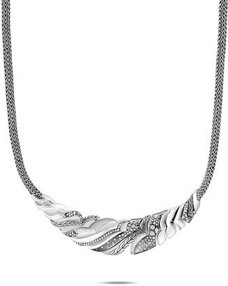 John Hardy Lahar Diamond Chain Bib Necklace