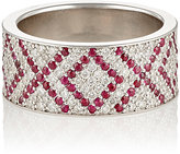 "Ambre Victoria Women's White Diamond & Ruby ""XOXO"" Cigar Band"