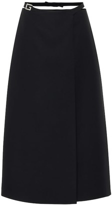 Gucci Silk and wool cady midi skirt