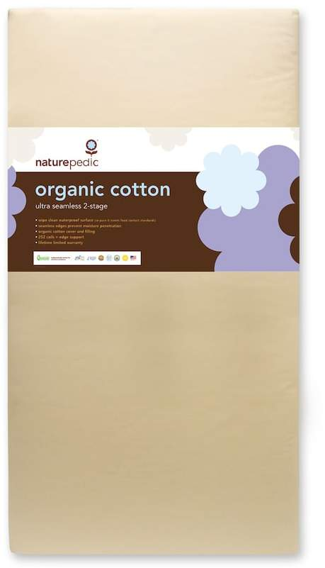Naturepedic No-Compromise Organic Cotton Dual Seamless Ultra Crib Mattress
