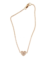 Campise Pave Diamond Heart Bracelet