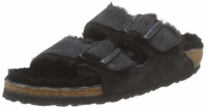 Birkenstock ARIZONA Suede leather / Sheepskin Women's Open Toe Sandals