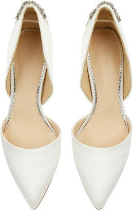 Monsoon Evie Embellished Back Bridal Court Shoes - Ivory